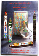 "CATALOGUE DE VENTE ""FLACONS A PARFUM"" 18 NOVEMBRE 2002 / COLLECTION"