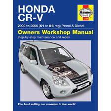 Honda CR-V 2.0 Petrol 2.2 Diesel 2002-06 (51 to 56 Reg) Haynes Manual
