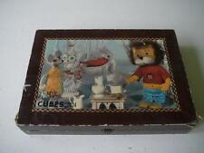 jeu de cubes vintage Garnier ORTF Titus le petit lion 24 cubes