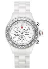 New Authent.Womens Michele MWW17B000001 Diamond Jetway white Ceramic watch $1995