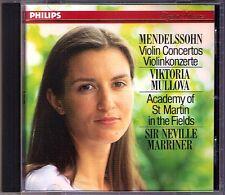 Viktoria MULLOVA MENDELSSOHN 2 Violin Concerto Violinkonzerte d-moll MARRINER CD