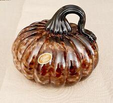 Beautiful Unique Artisan Glass Pumpkin
