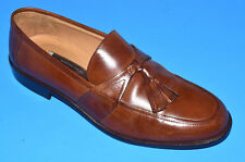 (RARE) JOHNSTON & MURPHY HAND CRAFTED LEATHER SHOE WITH TASSELS, TAN, SIZE 1OM