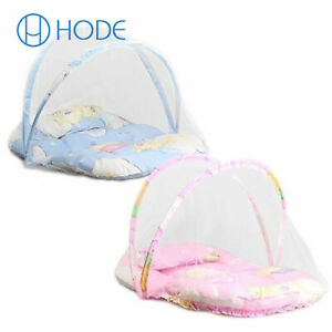 Baby Mosquito Net Foldable Without Installation Pillow With Cotton Pad UK