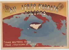 ITALIA SPAGNA 1940 GUERRA CIVILE FASCISMO PROPAGANDA  XII CORPO D'ARMATA PALERMO