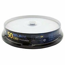 MNDADISK Blu Ray Discs 50 GB BD-R DL 8x Speed High Grade Bluray Dual Layer 10 pk