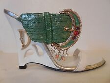 $355 New Sz.6US/36EU Women's Dibrera by Paolo Zanoli bucle Wedge Sandals (ITALY)