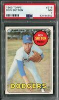 1969 Topps #216 Don Sutton PSA 7 NM
