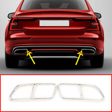 For Volvo S60 V60 2014-2019 Stainless Steel Exhaust Muffler Tail Pipe Cover Trim