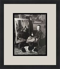 Norman Rockwell in his Vermont studio Custom Framed Print Free Shipping
