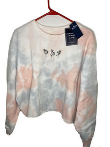 Hollister Crop Top Boyfriend Crewneck Sweatshirt Womens Size S - L Tie Dye