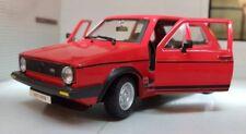 1:24 Escala 1979 Mark 1 Mk1 VW Golf Gti 1.6 1.8 Rojo Burago Fundido Modelismo