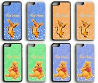 Personalised Tigger Winnie Disney Glitter Print Phone Case for iPhone / Samsung