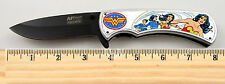 """Wonder Woman Knife Limited Edition Spring Assisted Knife 4.5"""" closed w/clip"""