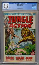 JUNGLE ACTION #1 CGC 8.5 WHITE PAGES!!