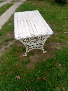 Vintage cast iron  outdoor table