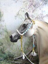 HW171 - LSQ Braided Arabian Halter made for Peter Stone,similar size Model Horse