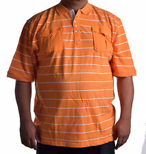 Rocawear Men's Big & Tall Casual Stripe Rugby Polo Shirt