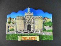 Toledo Vista Imán, Poly Soporte, España España Recuerdo España, 7 cm, Nuevo