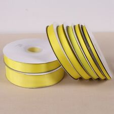 10 Yards Free shipping Yellow  color solid color grosgrain ribbon
