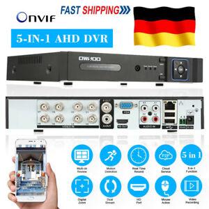 OWSOO 8CH 1080P Hybrid NVR AHD TVI CVI DVR CCTV Digital Video Recorder APP View