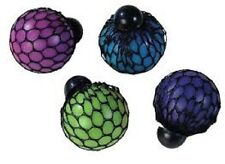 Rainbow Squishy Mesh Ball - 17921 Stress Reliever Squeeze Toy Colourful Slime 4 (one of Each)