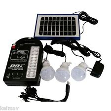 Solar Rechargeable Home Lighting System with USB AT999