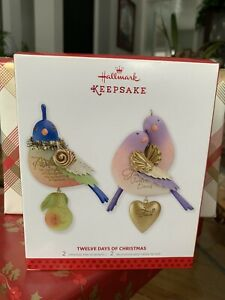 Hallmark Keepsake Ornaments TWELVE DAYS OF CHRISTMAS REISSUE First & Second 2013