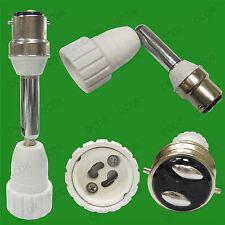 138mm B22 to GU10 Angled Joint Adaptor Lamp Light Bulb Holder Directional Socket