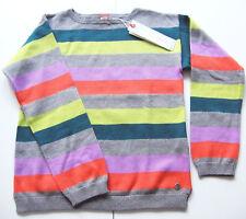 Strick Pullover Gr.116 /122 Esprit NEU 100% Baumwolle gestreift grau kinder