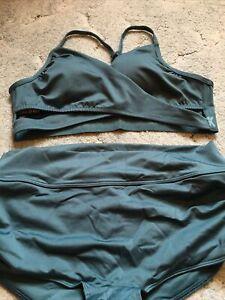 Victorias Secret Pink Gym To Swim Bodywrap Top & Shortie Size Large NWT