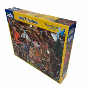 White Mountain Attic Treasures Jigsaw Puzzle Finest Quality 1000 Pieces #1123