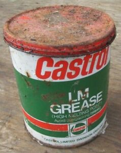 Vintage Castrol LM Grease 500g Empty Tin Collectable