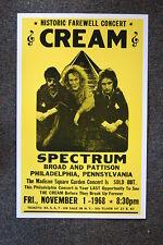Cream Tour Poster Philadelphia 1968 Farwell Show