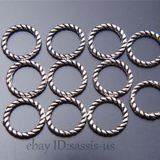 400pcs 8mm Charms Luck Ring Connector Spacer Bail Tibet Silver DIY Jewelry A7518