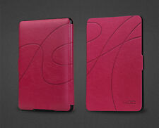 ROC® Smart Slim Leather Case Cover with Light for Amazon Kindle 8th generation
