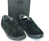 NIB Ugg Australia (M74) Hanz Classic Slippers Black Suede Ankle Mens US SZ 17