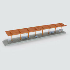 Outland Models Train Station Covered Passenger Platform w Accessories Z Scale