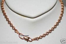 """7.5"""" Italian Solid 14K Pink Rose Gold Rolo Link Bracelet 3.3g GORGEOUS 3.5mm"""
