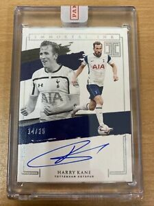 2020-21 Panini Impeccable Harry Kane 14/25 Immortal Ink Autograph On Card
