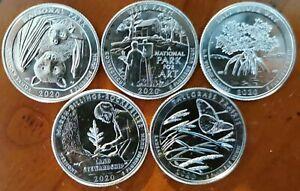 série 5 quarter dollar USA intégralité 2020 UNC atelier D