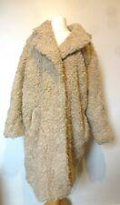 H&M Womens Lined Faux Fur Teddy Coat Size 18-20 Uk BNWT RRP £73.98 Light Beige