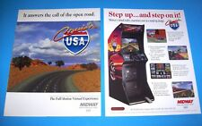 Midway CRUIS'N USA 1994 Original Set Of (2) NOS Video Arcade Game Flyers Cruisn