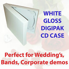 WHITE GLOSS CD/DVD DIGIPAK *THE PERFECT PACKAGING CHOICE FOR WEDDINGS* 10pk
