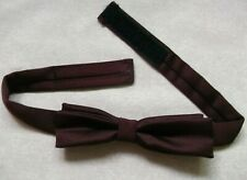 Bow Tie MENS Dickie Bowtie Adjustable VINTAGE RETRO Burgundy 1980s 1990s NARROW