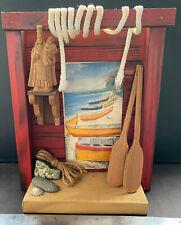 TALLA VIRGEN DEL CARMEN, Puerto Rico Vieques Pescadores, Hector Alvarez 1997 8x9