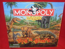 Parker Brothers MONOPOLY JUNIOR DIG'N DINOS Perhistoric Fossill VERSION Complete