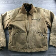Vintage Carhartt Blanket Lined Jacket Canvas Full Zip Distressed  SZ Unknown
