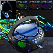 Stereo Anlage Licht Effekt CD MP3 Player USB Kinder Zimmer Party Radio Kopfhörer