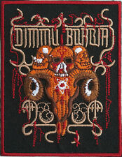 "DIMMU BORGIR Skull Iron On Sew On Embroidered Patch 3.8""x3"""